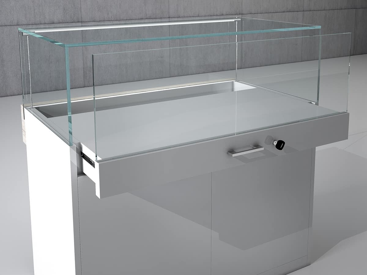 COM/QF1, Small shop counter with lockable showcase