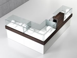 COM/QF6, L-shaped counter, for clothing and jewelery store