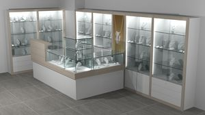Quadratum frame comp. 10, Wall and display counters for stores