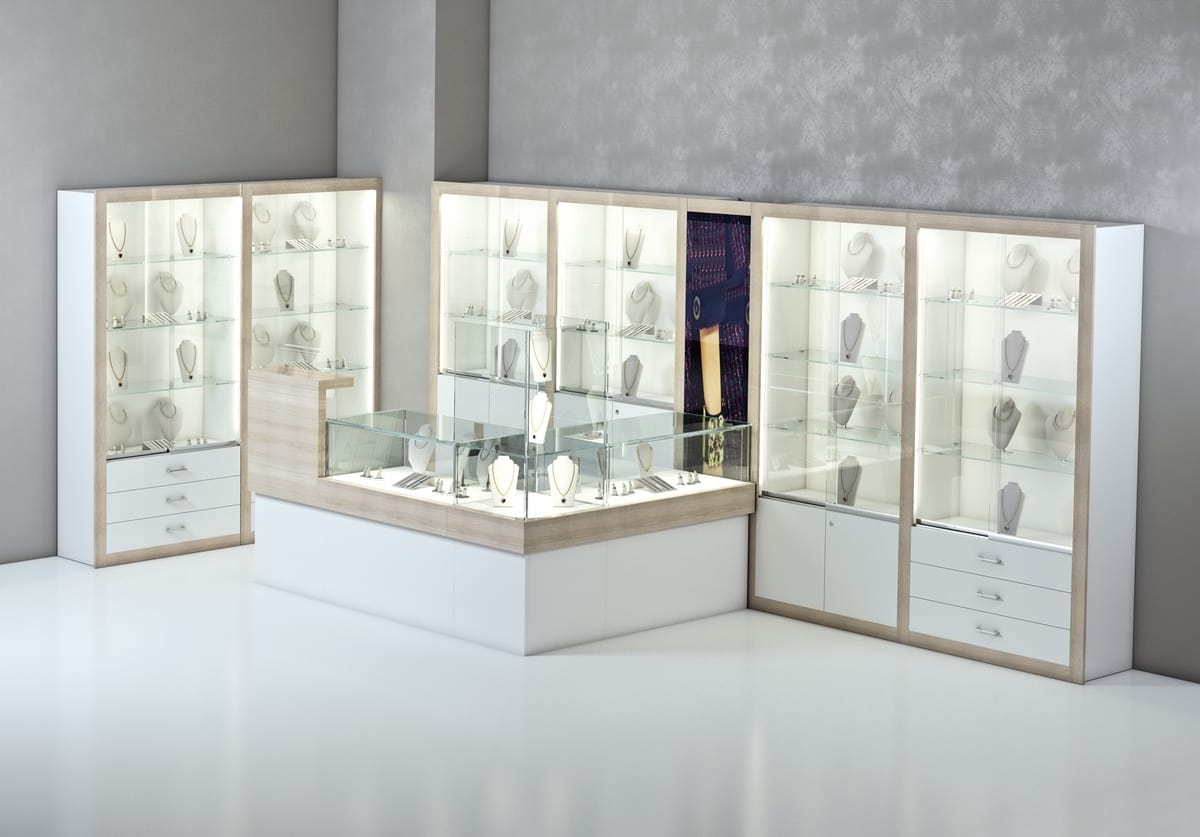 COM/QF13, Corner wooden counter for jewelers and shops