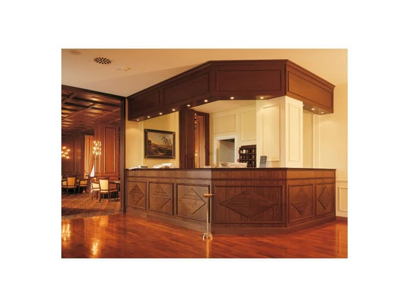 Regency Hotel Reception Counter For Hotels Craftsmanship Furniture