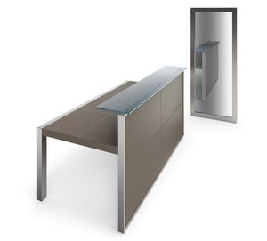 Strato reception 210.REC21OP, Leather reception counter