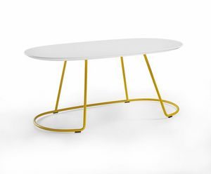 Botero Mignon, Oval coffee table for waiting room