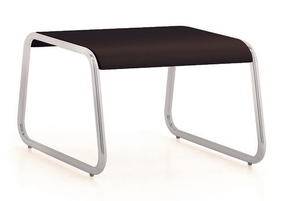 UF 184 - TABLE, Low table with sled metal base, for waiting rooms