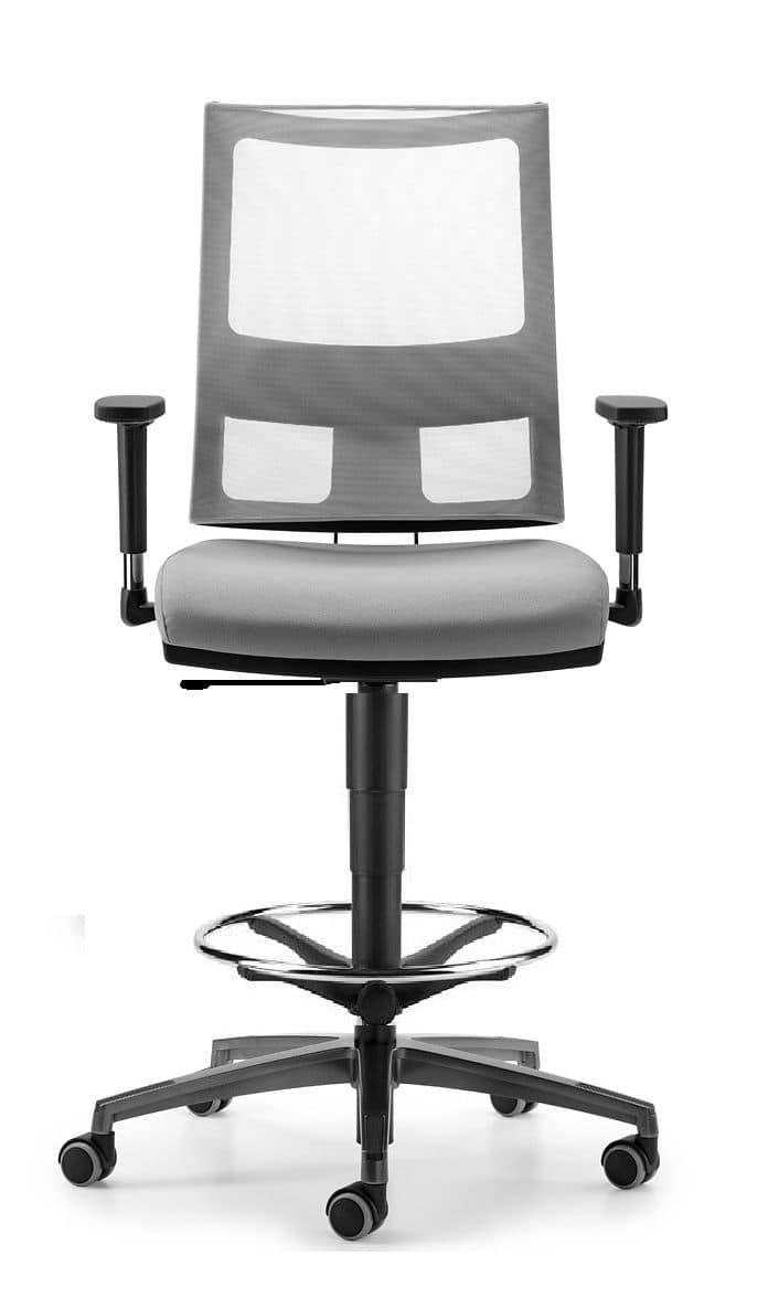 ALLYNET 1773, High stool for office, with Antishok system