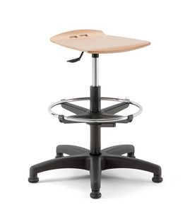 Bow 03, Adjustable stool with spoke base