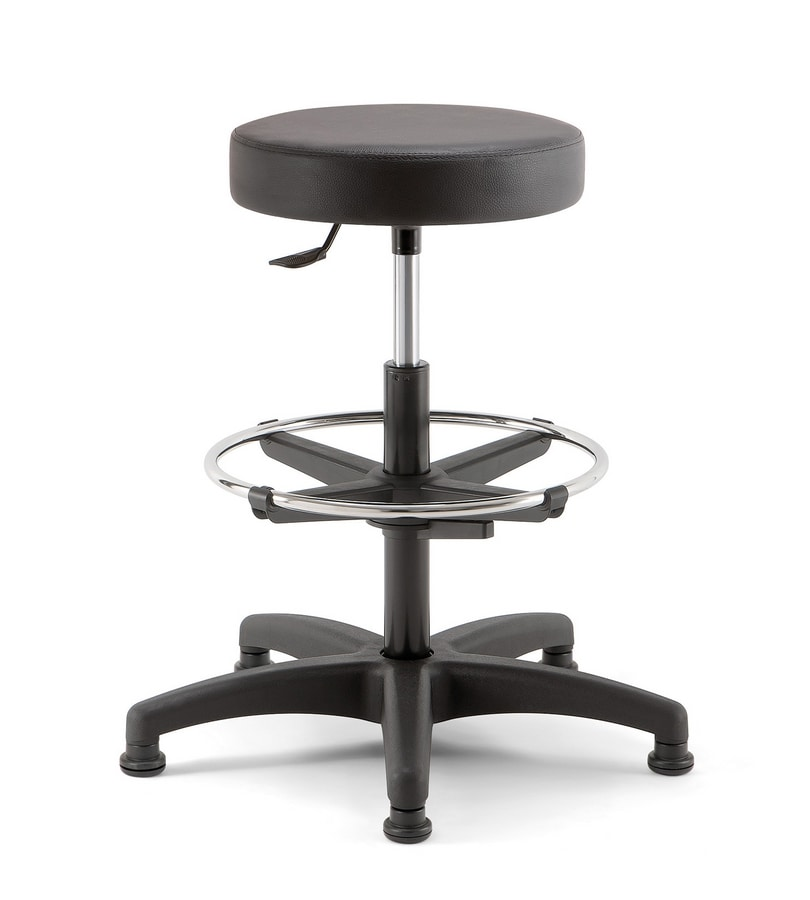 Duke Soft 03, Stool with footrest ring
