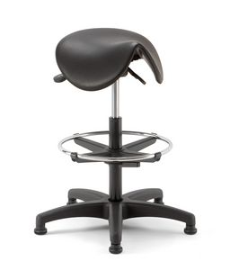 Horse 03, Technical stool with saddle-shaped seat