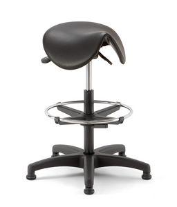 Horse 03, Technical stool with saddle-shaped seat