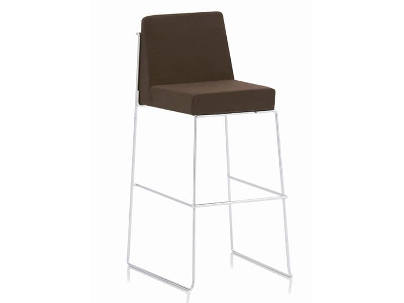 Kalida 605C, Upholstered stool with metal footrests, fireproof