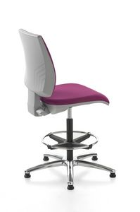 Kubix stool, Reception stool, swivel and adjustable