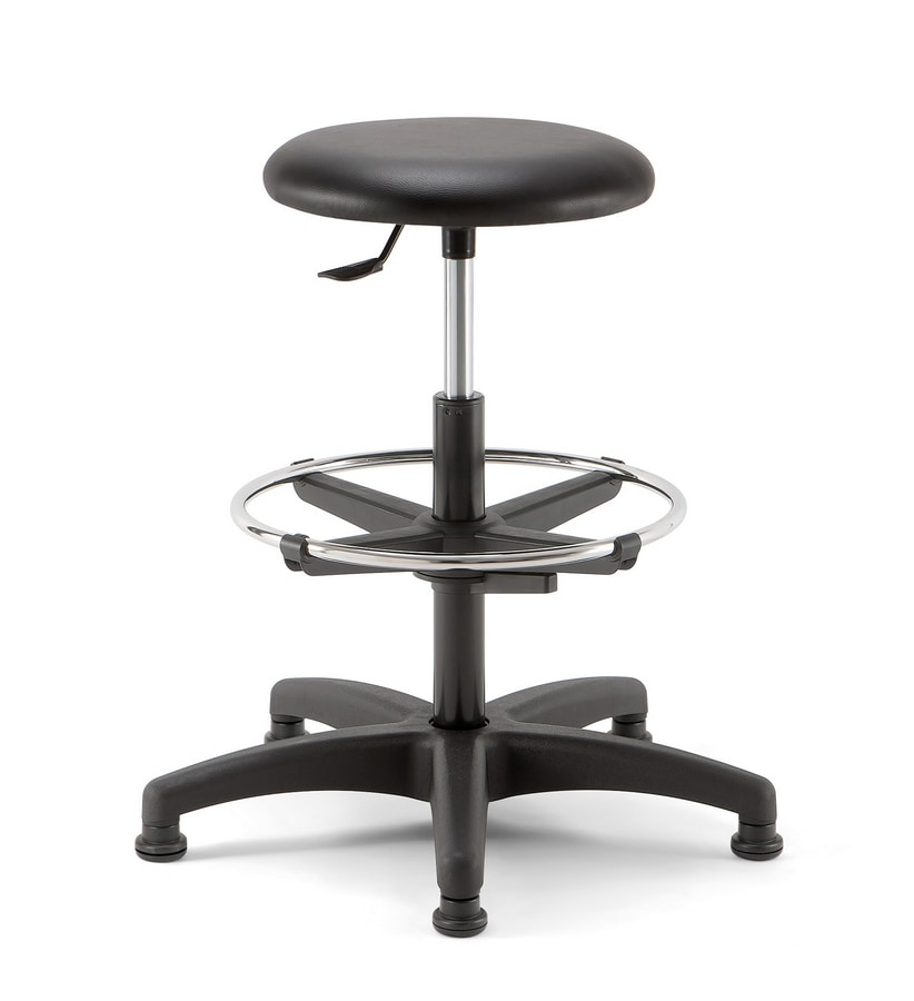 Mea Soft 03, Stool with round seat for reception