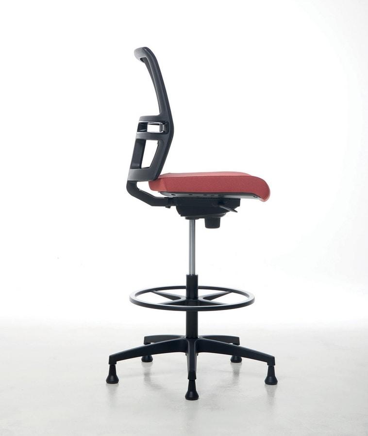 Omnia Stool 02, Swivel stool for reception
