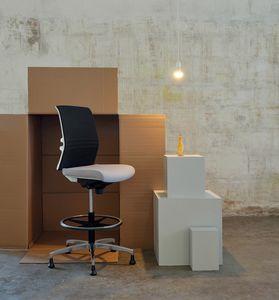 Omnia White Plus Stool 02, Office reception stool
