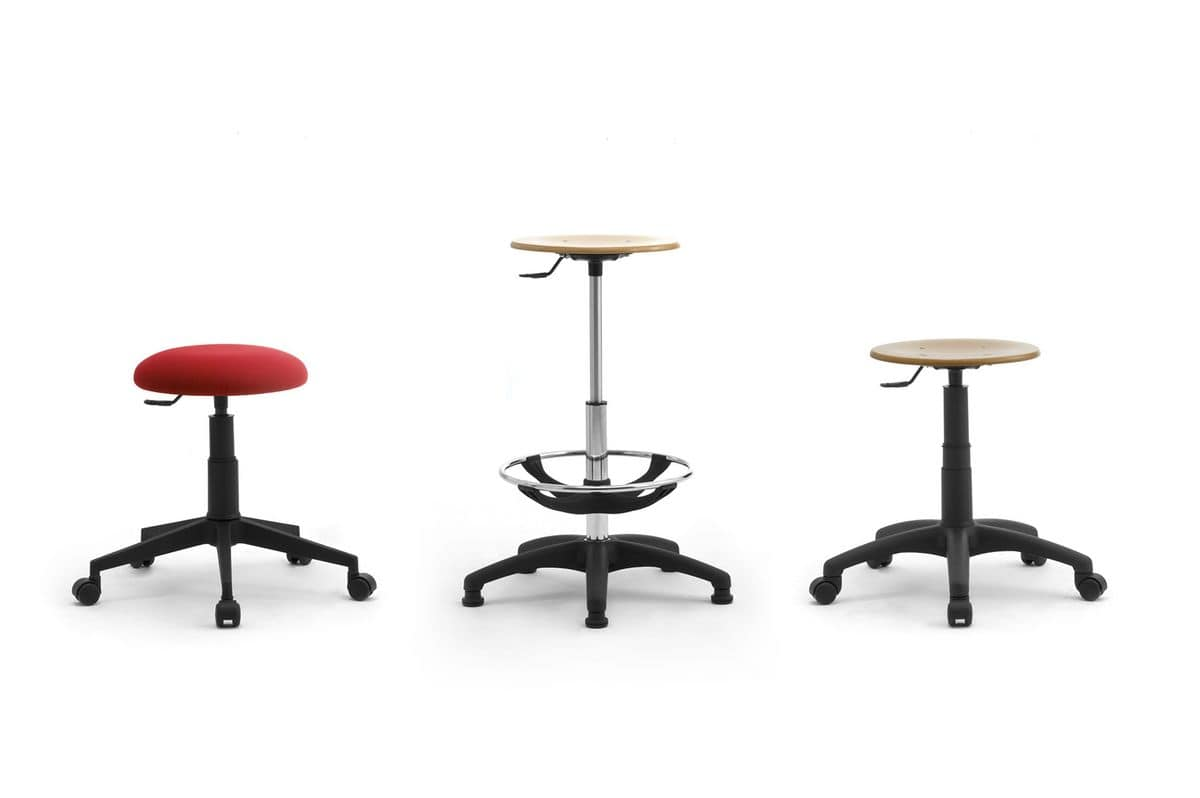 Saloon, Operative stools with upholstered seat and backrest