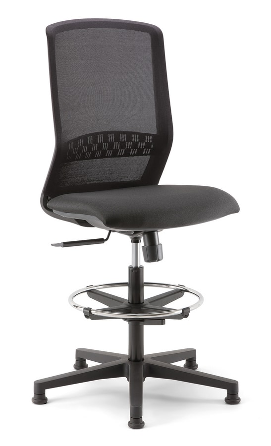 Tekna Stool 01, Office stool with mesh back