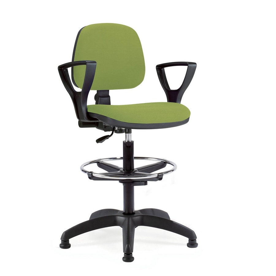 UF 307 stool, Operative stool with armrests ideal for reception