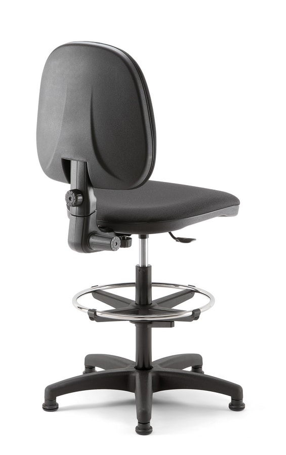 Viky Stool 01, Padded stool for reception