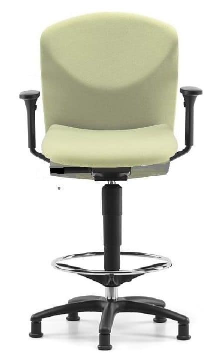 VULCAN 1471 Z, Stool with 5 feet and footrest, for studios