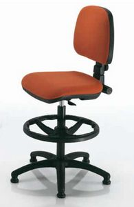 Woody-C, Stuffed office stool, adjustable in height