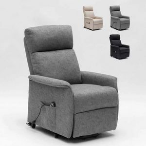 Giorgia Electric Power Lift Recliner Chair with Back Wheels SR111217W, Electric relax armchair