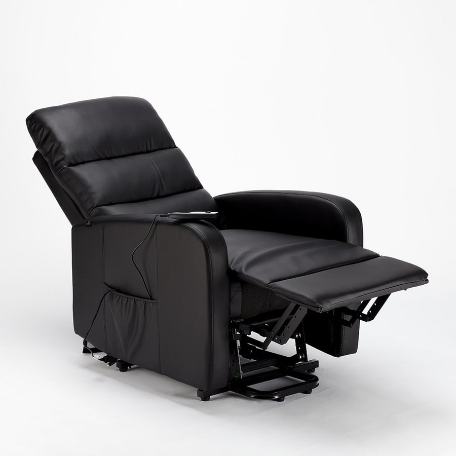 Reclining electric relaxation armchair with people lift in leatherette ELIZABETH Design - SR681PUN, Electric armchair with people  lift