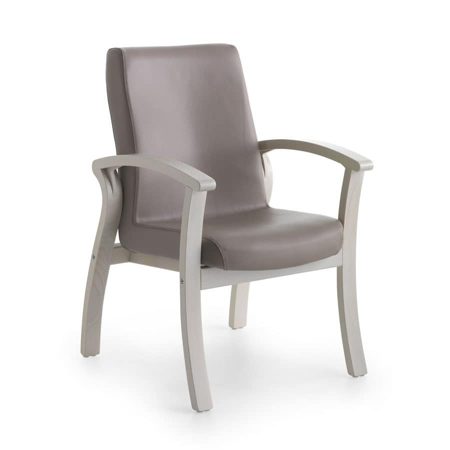Silver Age 06 FIX, Armchair washable, wide seat, for nursing home