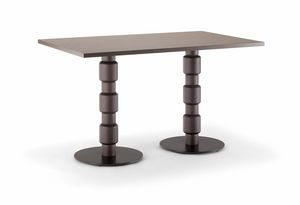 BERLINO TABLE 080 D H75, Rectangular table for restaurant