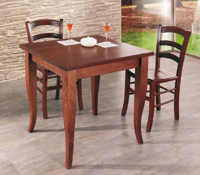 Cral, Wooden table for restaurant