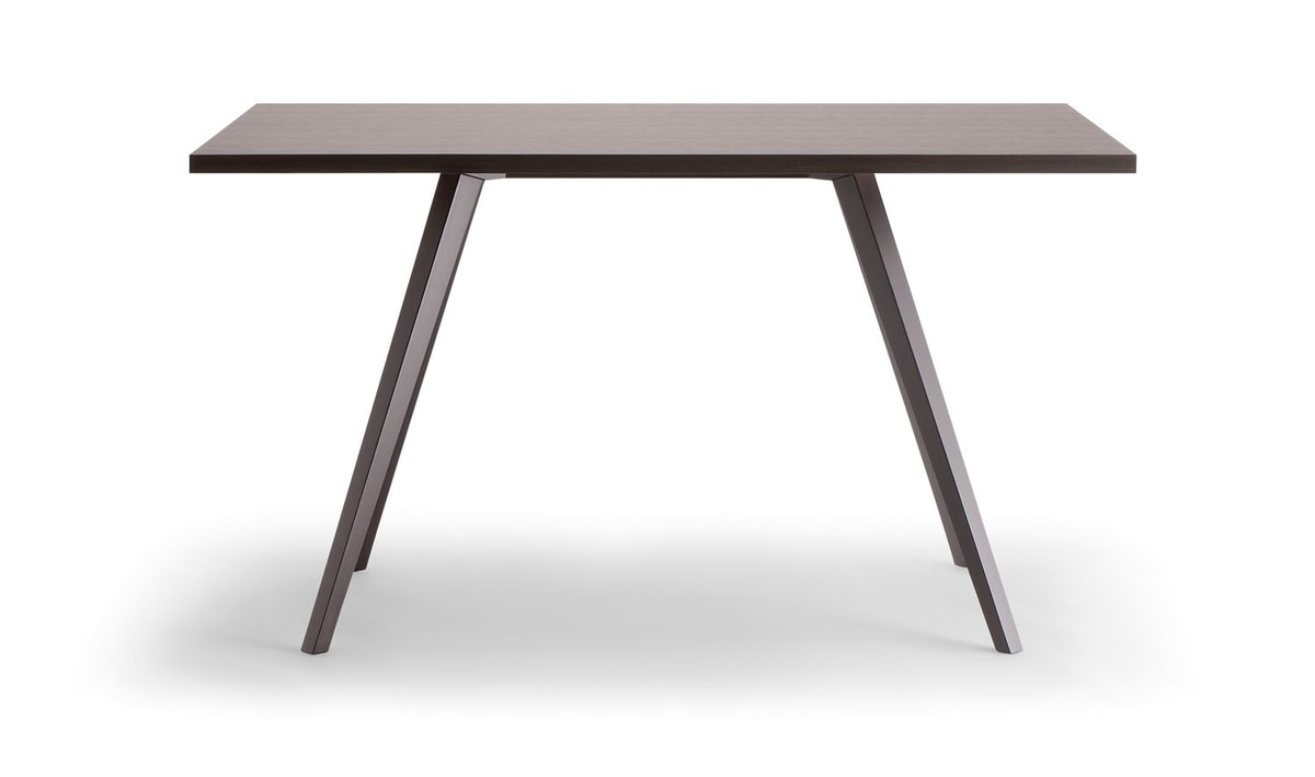 MILANO TABLE 083 D H75, Wooden table for contract use