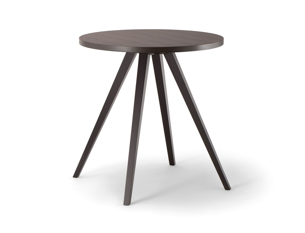 MILANO TABLE 083 H75 T, Round wooden table