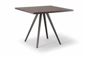 MILANO TABLE 083 H75, Square table for contract use