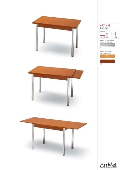 Parigi 70x110, Extendable table for kitchen