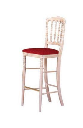 S10 SG, Beech barstool, padded seat, for classic environments