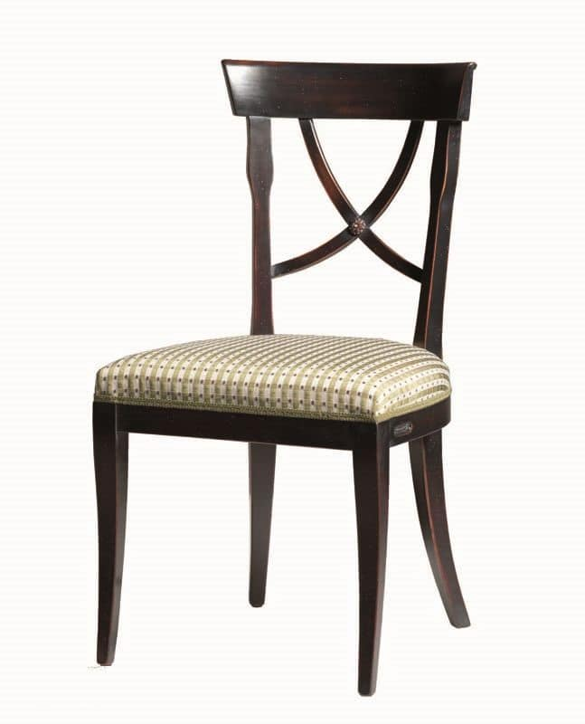 Alexie BR.0205, Chair with fabric seat, without armrests