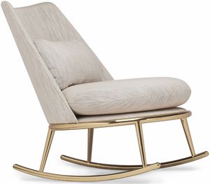 Aurora rocking chair, Padded rocking armchair