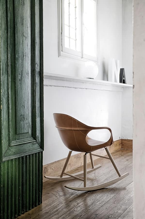 Wondrous Rocking Chair With Seat Upholstered In Leather Idfdesign Gmtry Best Dining Table And Chair Ideas Images Gmtryco