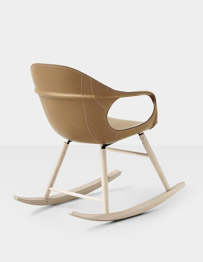 Marvelous Rocking Chair With Seat Upholstered In Leather Idfdesign Gmtry Best Dining Table And Chair Ideas Images Gmtryco