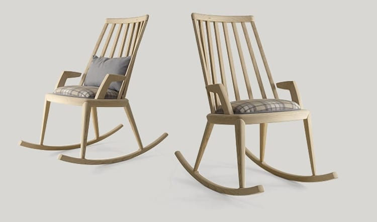 Udinì rocking chair, Rocking chair in ash wood