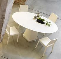 Agarico, Dining table with round top