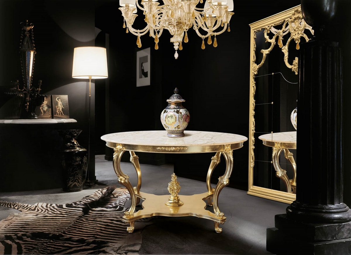 Art. 388, Round table with marble top