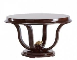 Art. VL119, Round table, for dining room, in painted wood