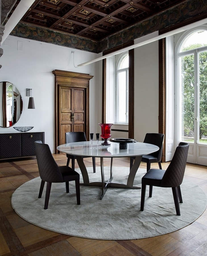 Bogart, Round table with marble top