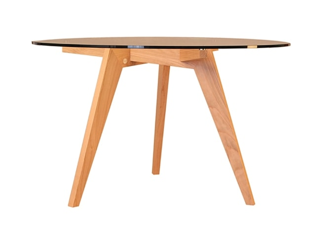Boomerang 5721, Table with round crystal top