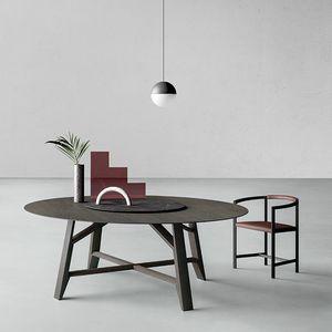 Controvento, Round table with revolving central tray