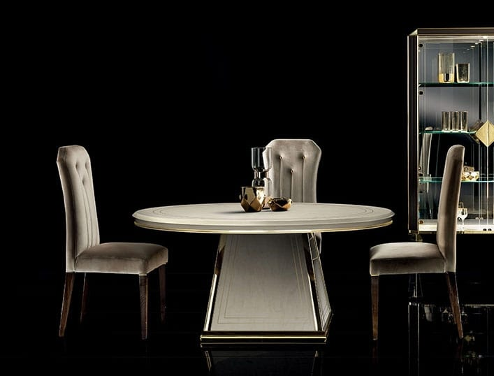 DIAMANTE round table, Elegant dining table with round top
