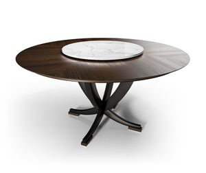 Eclipse Art. E214 215, Dining table with Lazy Susan