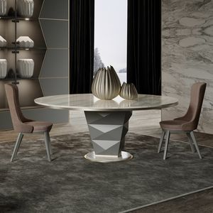 Erik Art. 206-RT9M, Round table with marble top