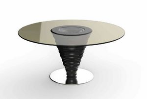 Frames Art. T10, Table with round glass top
