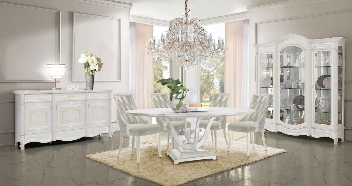 Giulietta Art. 3623, Dining table with round top